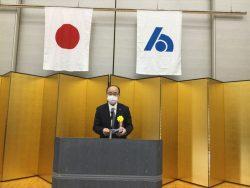 受彰者を代表して麻薙会長挨拶