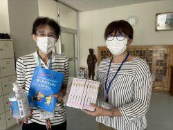 千葉市立金沢小学校へ支援品贈呈