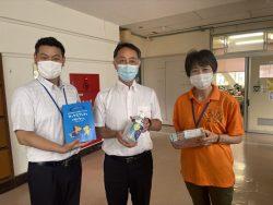 千葉市立宮崎小学校へ支援品贈呈