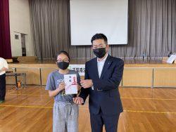 千葉市立土気南小学校へ青少年育成図書寄贈